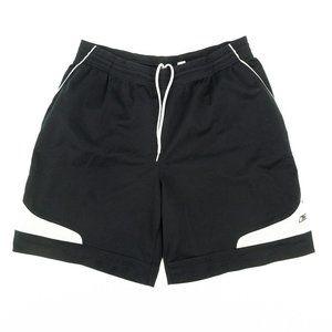 Reebok Basketball Shorts Loose Striped Black Sz XL